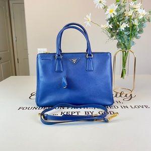 Prada Medium Lux Saffiano Satchel Shoulder Bag